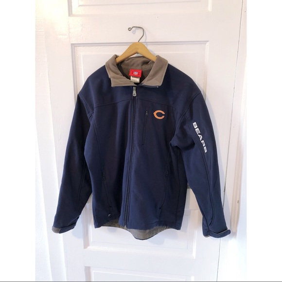 wholesale dealer 947a3 b6067 NFL Chicago Bears Navy Full Zip Up Coach Jacket